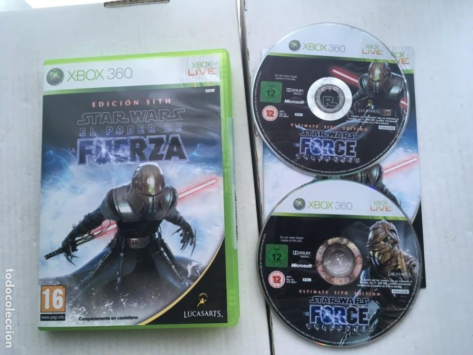 STAR WARS EL PODER DE LA FUERZA EDICION SITH STARWARS XBOX 360 X360 X-360 X-BOX KREATEN (Juguetes - Videojuegos y Consolas - Microsoft - Xbox 360)