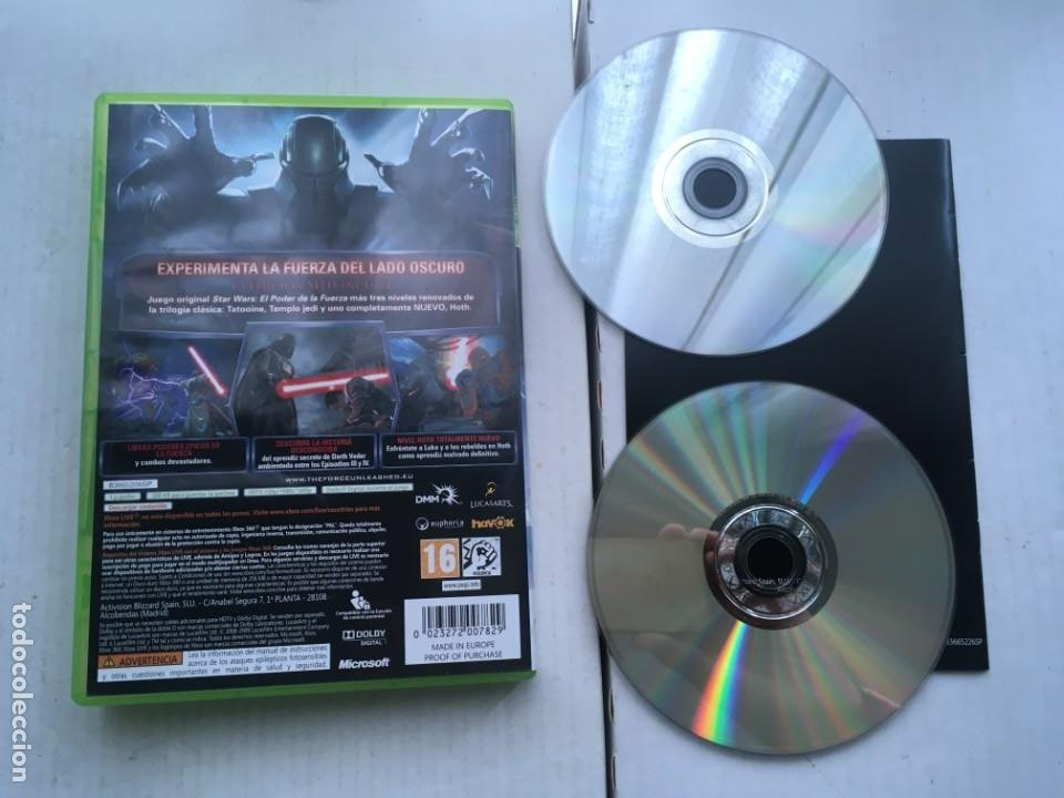Videojuegos y Consolas: STAR WARS EL PODER DE LA FUERZA EDICION SITH STARWARS XBOX 360 X360 X-360 X-BOX KREATEN - Foto 2 - 221962817