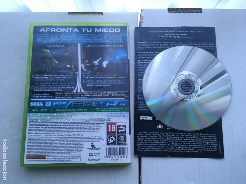 Videojuegos y Consolas: ALIENS COLONIAL MARINES LIMITED EDITION SEGA XBOX 360 X360 X-360 X-BOX KREATEN - Foto 2 - 221963515
