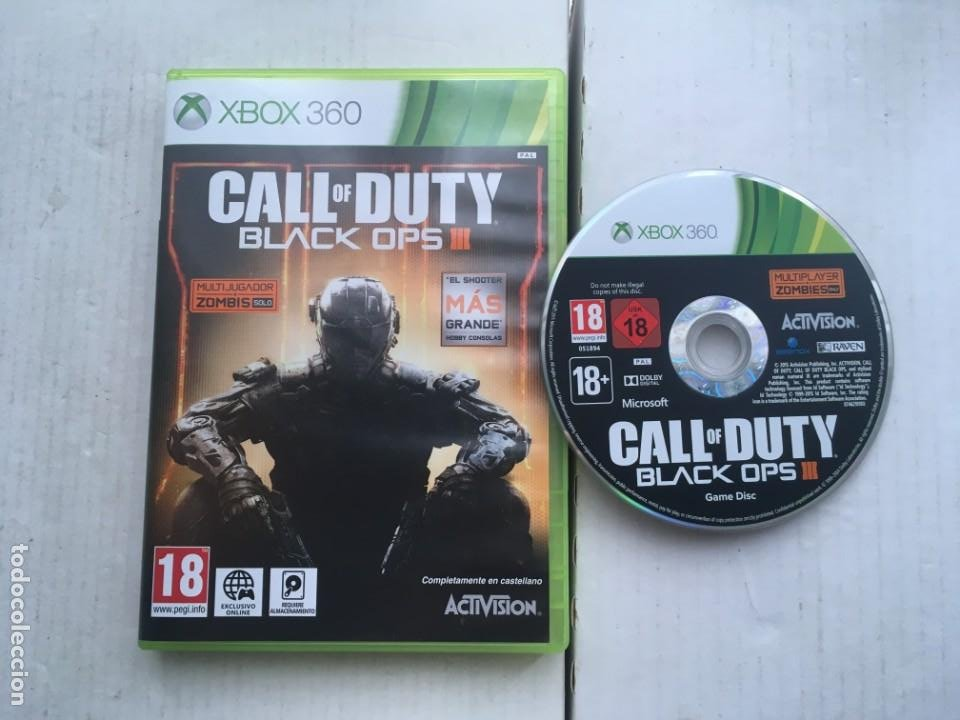 CALL OF DUTY BLACK OPS III 3 COD XBOX 360 X360 X-360 X-BOX KREATEN (Juguetes - Videojuegos y Consolas - Microsoft - Xbox 360)