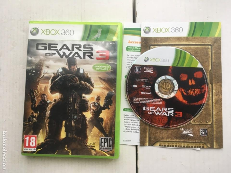 GEARS OF WAR 3 GEAR WARS III GOW XBOX 360 X360 X-360 X-BOX KREATEN (Juguetes - Videojuegos y Consolas - Microsoft - Xbox 360)
