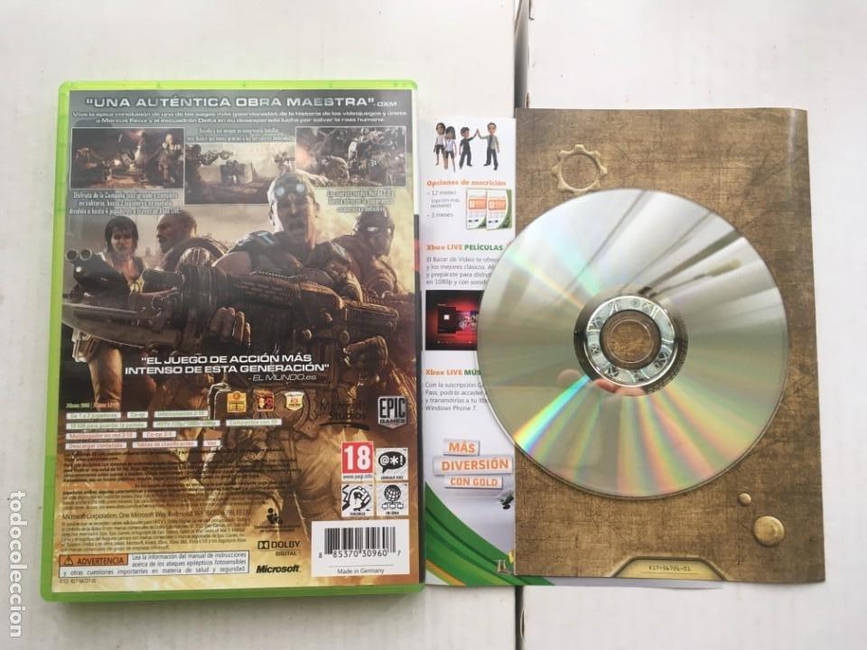 Videojuegos y Consolas: GEARS OF WAR 3 GEAR WARS III GOW XBOX 360 X360 X-360 X-BOX KREATEN - Foto 2 - 221964550
