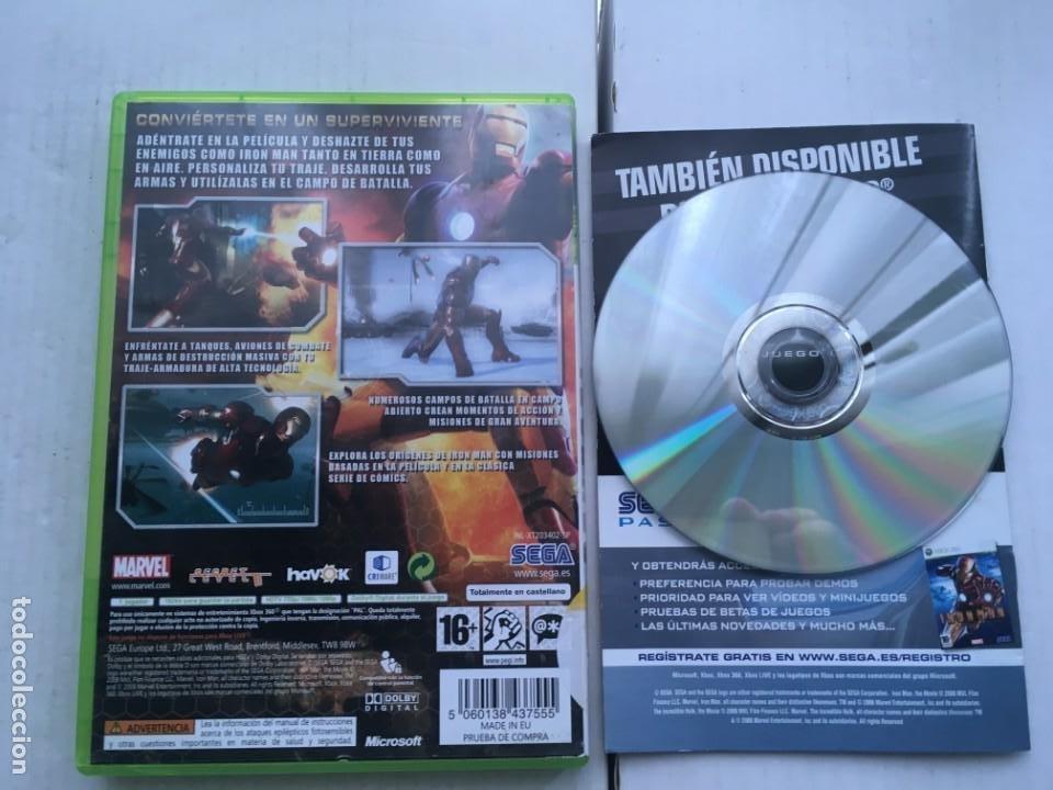 Videojuegos y Consolas: IRONMAN SEGA IRON MAN MARVEL XBOX 360 X360 X-360 X-BOX KREATEN - Foto 2 - 221965332