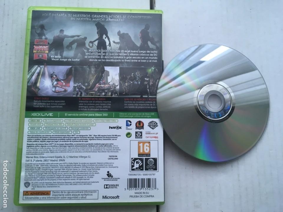 Videojuegos y Consolas: INJUSTICE GODS AMONG US DC COMICS XBOX 360 X360 X-360 X-BOX KREATEN - Foto 2 - 221965846
