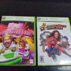 Videojuegos y Consolas: POCKETBIKE RACER Y BIG BUMPIN. JUEGOS XBOX 360 NTSC BURGUER KING COMPLETOS. Lote 222001401