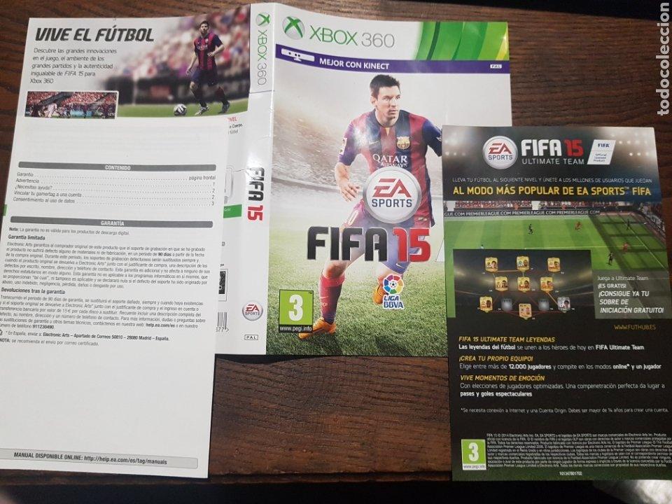FIFA 15 XBOX 360 CARÁTULA Y MANUAL (Juguetes - Videojuegos y Consolas - Microsoft - Xbox 360)