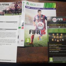 Videojuegos y Consolas: FIFA 15 XBOX 360 CARÁTULA Y MANUAL. Lote 222064446