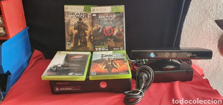 CONSOLA XBOX + 4 JUEGOS +KINET +CARGADOR NO ESTA PROBADO VER FOTOS (Juguetes - Videojuegos y Consolas - Microsoft - Xbox 360)