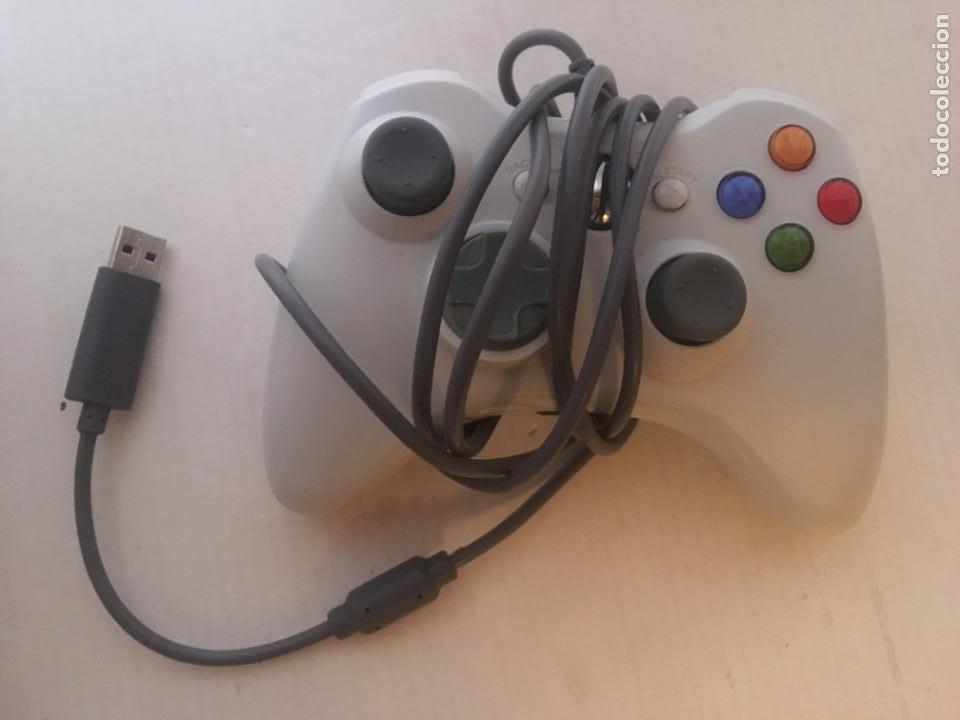 MANDO CON CABLE USB XBOX 360 X360 BLANCO Y NEGRO KREATEN (Juguetes - Videojuegos y Consolas - Microsoft - Xbox 360)