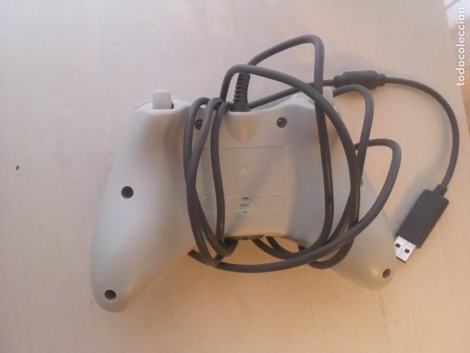 Videojuegos y Consolas: MANDO CON CABLE USB XBOX 360 X360 BLANCO Y NEGRO KREATEN - Foto 2 - 222477977