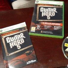 Videojuegos y Consolas: JUEGO XBOX 360 GUITAR HERO 5. Lote 222973528