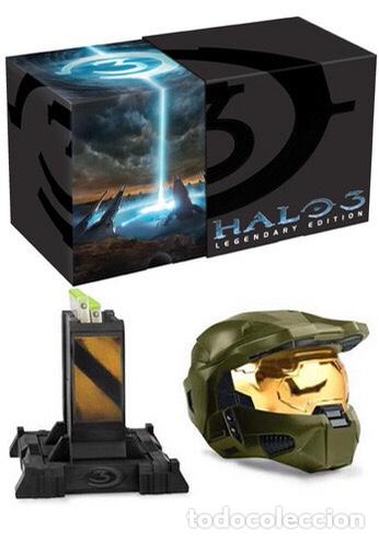 Videojuegos y Consolas: Halo 3 Legendary Edition Xbox 360 Individually Numbered Helmet NEW - Foto 4 - 224136280