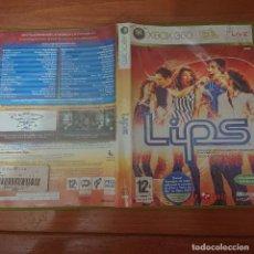Videojuegos y Consolas: XBOX 360 LIPS ESPAÑOL COMPLETO. Lote 224650276
