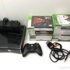 Videojuegos y Consolas: LOTE CONSOLA CABLES MANDO Y 25 JUEGOS XBOX 360. Lote 226623180