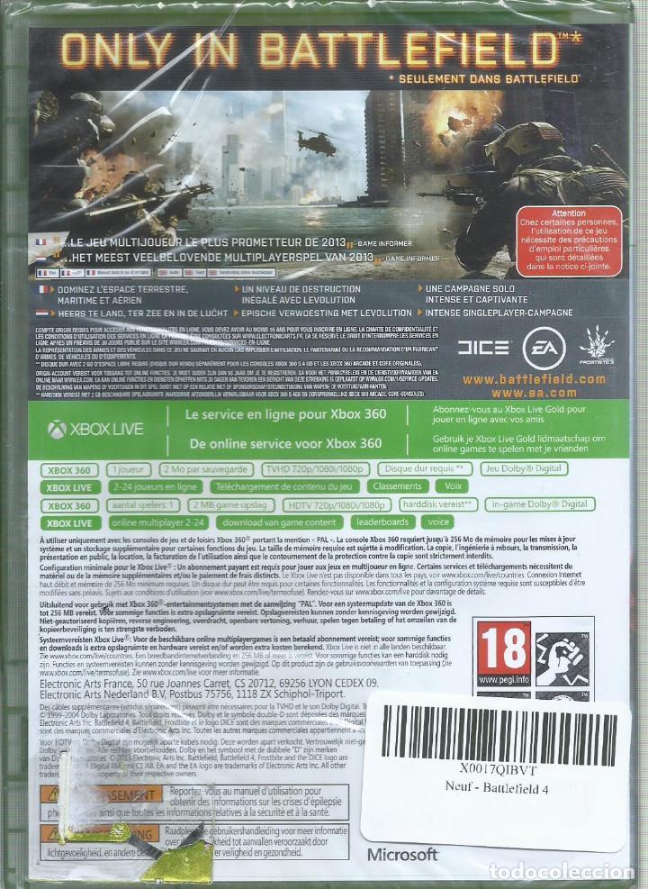 Videojuegos y Consolas: Battlefield 4 XBOX 360 (CAJA EN INGLES Y JUEGO EN CASTELLANO) PRECINTADO - Foto 2 - 227146620