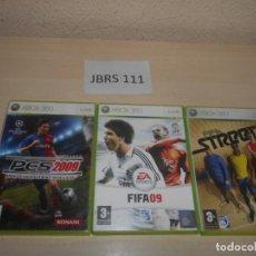 Videojuegos y Consolas: PRO EVOLUTION SOCCER 2009 + FIFA 09 + FIFA STREET 3. Lote 234574875