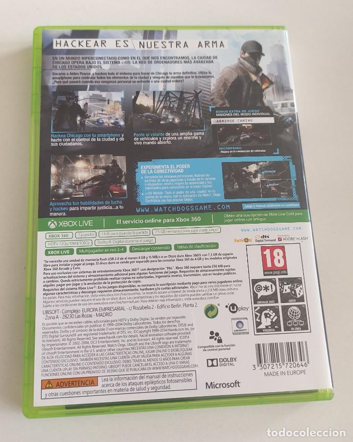 Videojuegos y Consolas: JUEGO CONSOLA MICROSOFT XBOX 360 , WATCHDOGS - WATCH DOGS , COMPLETO - Foto 3 - 234908235
