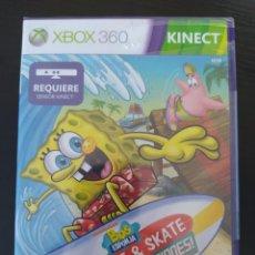Videojuegos y Consolas: XBOX 360 - BOB ESPONJA SURF & SKATE VACACIONES - REQUIERE KINECT - PAL - NUEVO. Lote 236147935