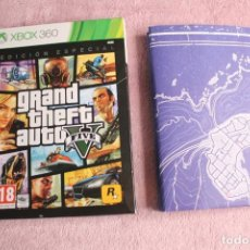 Videojuegos y Consolas: GRAND THEFT AUTO V FIVE EDICION ESPECIAL XBOX 360 CAJA CARTON Y MAPA SIN CD. Lote 238133290