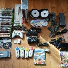 Videojuegos y Consolas: CONSOLA XBOX 360 + JUEGOS + ACCESORIOS + KINECT + MANDOS. Lote 243791150