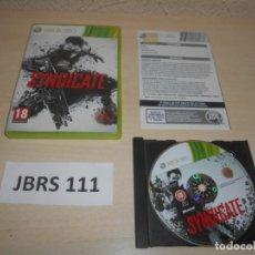 Videojuegos y Consolas: XBOX360 - SYNDICATE , PAL ESPAÑOL , COMPLETO. Lote 244731220