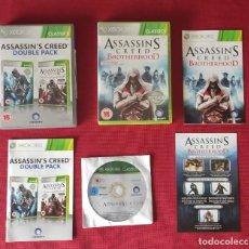 Videojuegos y Consolas: 3 JUEGOS ASSASSINS CREED XBOX 360. Lote 246012595