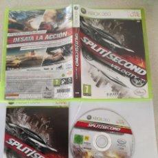 Videojuegos y Consolas: SPLIT SECOND VELOCITY XBOX360 XBOX 360 COMPLETO PAL-ESPAÑA. Lote 246025040