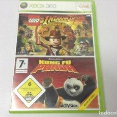 Videojuegos y Consolas: LEGO INDIANA JONES + KUNG FU PANDA. Lote 253138780