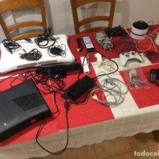 Videojuegos y Consolas: LOTE CONSOLA X BOX 360 Y ACCESORIOS XBOX MÁS WII - TODO EN LAS IMÁGENES. Lote 257379315