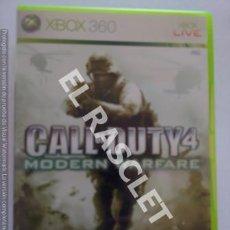 Videojuegos y Consolas: XBOX 360 JUEGO - CALL OF DUTY 4. Lote 261110015