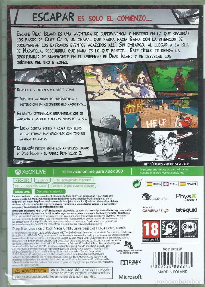 Videojuegos y Consolas: Escape Dead Island (Textos en español y voces en inglés) - Foto 2 - 261329625