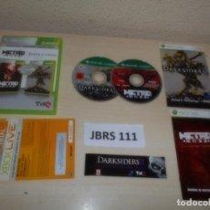 Videojuegos y Consolas: XBOX 360 - METRO 2033 + DARKSIDERS - DOUBLE PACK , PAL ESPAÑOL , COMPLETO. Lote 261947175