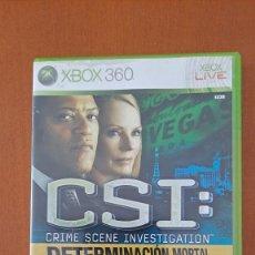 Videojuegos y Consolas: XBOX 360 - CSI: DETERMINACION MORTAL. Lote 262818840