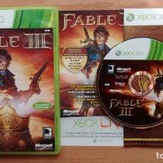Videojuegos y Consolas: FABLE III 3 PAL ESPAÑOL XBOX 360 - POSIBILIDAD DE ENTREGA EN MANO EN MADRID. Lote 262985755