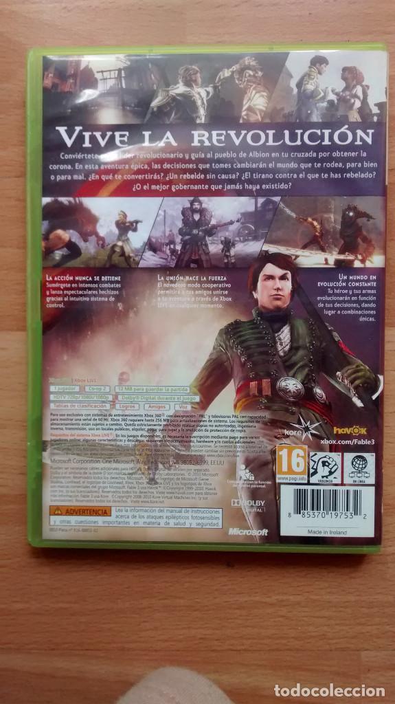 Videojuegos y Consolas: Fable III 3 PAL Español XBOX 360 - Posibilidad de entrega en mano en Madrid - Foto 2 - 262985755