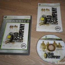 Videojuegos y Consolas: XBOX360 JUEGO BATTLEFIELD BAD COMPANY CLASSICS. Lote 269082113