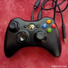 Videojuegos y Consolas: MANDO BLANCO XBOX 360 CON CABLE NEGRO. Lote 270691123