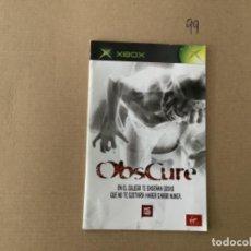 Videojuegos y Consolas: H10. MANUAL OBSCURE XBOX. Lote 271028373