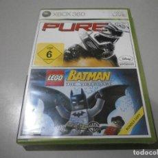 Videojuegos y Consolas: JUEGO XBOX 360 PURE Y LEGO BATMAN NUEVO PRECINTADO. Lote 274182818
