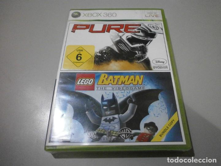 JUEGO XBOX 360 PURE Y LEGO BATMAN NUEVO PRECINTADO (Juguetes - Videojuegos y Consolas - Microsoft - Xbox 360)