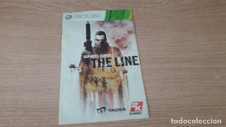 JUEGO XBOX 360 MANUAL DE INSTRUCCIONES DEL JUEGO SPEC OPS THE LINE (Juguetes - Videojuegos y Consolas - Microsoft - Xbox 360)