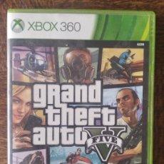 Videojuegos y Consolas: GTA 5, GRAN THEFT AUTO V - JUEGO PAL - FUNCIONANDO - .XBOX 360. Lote 276300353