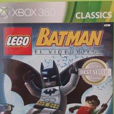 Videojuegos y Consolas: LEGO BATMAN EL VIDEOJUEGO (CLASSICS). JUEGO PARA XBOX 360. USADO. CARÁTULA DETERIORADA.. Lote 278823543