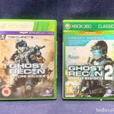 Videojuegos y Consolas: VIDEOJUEGOS XBOX360 GHOST RECO FUTURE SOLDIER Y 2UBISOFT MICROSOFT INGLES 19X13,5CMS. Lote 284095443