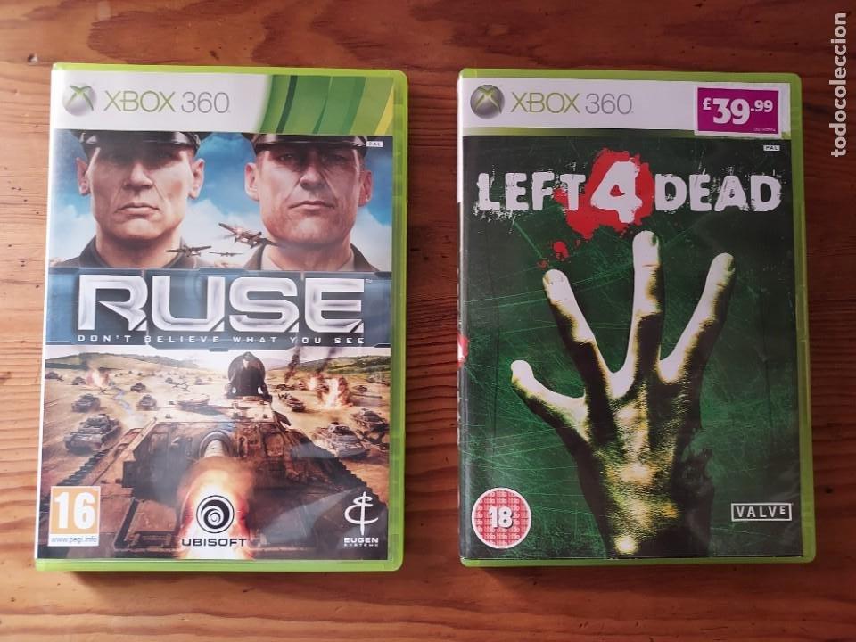LOTE 2 JUEGOS XBOX 360 RUSE Y LEFT 4 DEAD. VERSION INGLESA COMPATIBLE PAL (Juguetes - Videojuegos y Consolas - Microsoft - Xbox 360)
