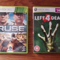 Videojuegos y Consolas: LOTE 2 JUEGOS XBOX 360 RUSE Y LEFT 4 DEAD. VERSION INGLESA COMPATIBLE PAL. Lote 287685638