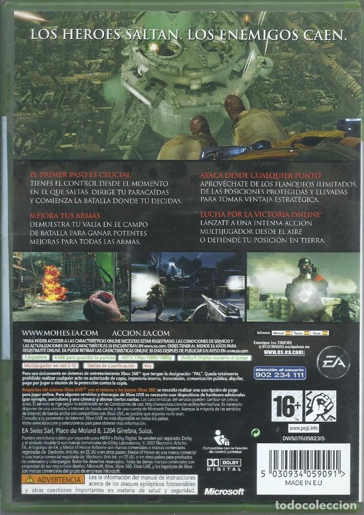 Videojuegos y Consolas: Medal of Honor: Airborne XBOX 360 - Foto 2 - 288861268