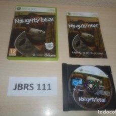 Videojuegos y Consolas: XBOX 360 - NAUGHTY BEAR , PAL ESPAÑOL , COMPLETO. Lote 293996283