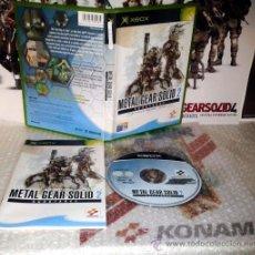Videojuegos y Consolas: METAL GEAR SOLID 2 SUBSTANCE XBOX PAL ESPAÑA IMPECABLE SOLID SNAKE HIDEO KOJIMA. Lote 35988103