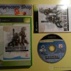 Videojuegos y Consolas: METAL GEAR SOLID 2 SUBSTANCE - XBOX - PAL ESPAÑA. Lote 44848551